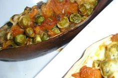 Receita Beringela com ervilhas, Muito Fácil, Entrada - Petit Chef