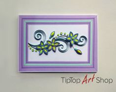 Set of 2 Handmade Paper Quilling Greeting Cards by TipTopArtShop