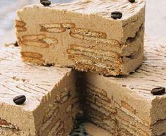 This Portuguese Maria biscuits with coffee cream cake (bolo de bolacha Maria com creme de café) is delicious and makes a great dessert. Portuguese Desserts, Portuguese Recipes, Portuguese Food, Sweet Recipes, Cake Recipes, Dessert Recipes, Food Cakes, Great Desserts, No Bake Desserts
