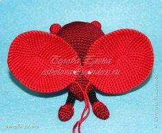 Ella's Crocheted Toys: Ladybug and mister Bug by Elena Belova Lady Bug, Half Double Crochet, Single Crochet, Thick Cardboard, Decorative Bows, Yarn Needle, Yarn Colors, Slip Stitch, Crochet Toys