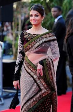 Aishwarya Rai in Sabyasachi Saree Pic at Cannes