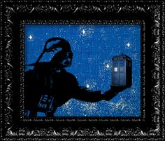 Darth Vader - The Tardis - Dr. Who Parody Geekery - Vintage Retro Geekery Inspired - Collage Art Print. This is awesome! Tardis Dr Who, Star Wars Fan Art, Crafts To Do, Collage Art, Techno, Retro Vintage, Random Stuff, Weird, Geek Stuff