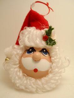 Santa Light Bulb Ornament. $7.00, via Etsy.