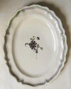 Antico Grande Piatto Ceramica San Amand Hamage Belga La