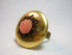 Chrysanthemum Locket Ring $16.00