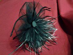 Diadema, con tul negro