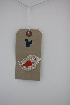 Little bird snap hair clip in orange floral by SecretSquirrel13, £2.50