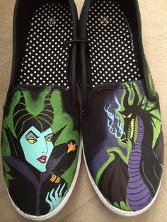Custom+Maleficent+SlipOns+by+DisneyBySarahnimal+on+Etsy,+$90.00