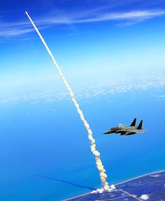 Shuttle launch from  F-15