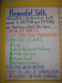 Working on CCSS speaking and listening standards