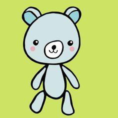 It\'s a cute bear kinda day today* . . . .  #kawaii #kawaiiart #cute #illustration #doodle #bear #teddybear #toy #kawaiitoys #stationery #design #illustrator #adobeillustrator #sketchbook #sketch #drawing #streetstyle #fashion #childrensbookillustration #storybook #Pens #art #freehand *by Josie Deal