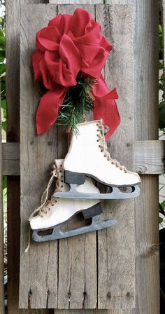 A personal favorite from my Etsy shop https://www.etsy.com/listing/568193547/rustic-farmhouse-christmas-ice-skates