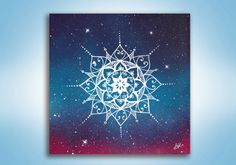 Mandala Painting  Original Painting  Spray Paint by KanoelaniArt