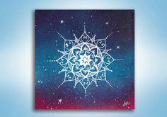 Mandala Painting Original Painting Spray Paint by KanoelaniArt
