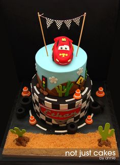 McQueen cake by not just cake by Anne