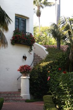 Beautiful Spanish tile steps. Santa Barbara Biltmore.