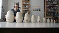 Handmade Portraits: 99 Feelings by Etsy. How do you visualize the human experience — courage, happiness, hope? Ceramicist Mitsy Sleurs (http://artmind.etsy.com) started with a Matryoshka doll and 99 emotions.