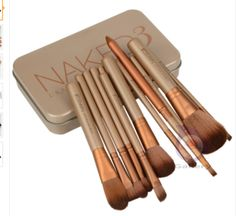 Superb good 12 pcs NAKE 3 naked kit de pinceis de pinceaux maquillage maquiagen pincel makeup brushes set kit styling tools for make up *** Learn more by visiting the image link. Cosmetic Brush Set, Makeup Brush Set, It Cosmetics Brushes, Makeup Cosmetics, Lip Brushes, Eyeshadow Brushes, Eyeshadow Makeup, All Things Beauty, Beauty Make Up