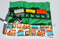 Choo Choo GrabAndGo Toy Train Carrier by Bloomberrycrafts on Etsy, $18.00
