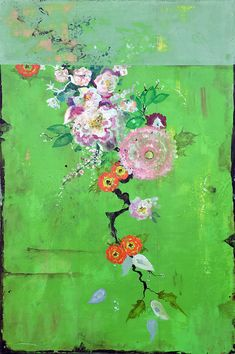 The New Floral Collection: Kathe Fraga Paintings, Inspired by Chateau de Gadunes, Chinoiserie and vintage Parisian Wallpapers – The Art of Kathe Fraga Art Floral, Chinoiserie, French Wallpaper, Painting Inspiration, Flower Art, Cool Art, Contemporary Art, Abstract Art, Art Gallery