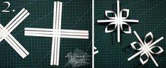 diy-3d-paperiset-lumihiutaleet Origami, Christmas Crafts, Symbols, Letters, Lifestyle, Stars, Holiday, Flowers, Snowflakes