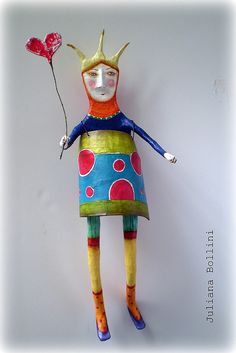 inspiration Juliana Bollini I´ve got a thing for these kind of folk art dolls. Simple but so expressive