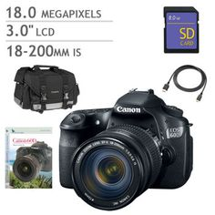 Costco $899 with discount Canon EOS 60D DSLR Camera with 18-200mm Lens Bundle