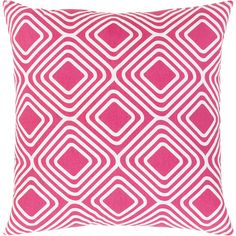 Surya Miranda Bright Pink Throw Pillow (51 CAD) ❤ liked on Polyvore featuring home, home decor, throw pillows, hot pink throw pillows, hot pink accent pillows and surya