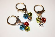 3 Jingle Bells Christmas Dog Collar Charm Choose your color Red Green Gold Silver Blue or Multicolor. $3.00, via Etsy.