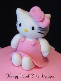 How to do fondant Hello Kitty topper tutorial llat kszts