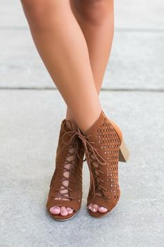 The Jojo Lace Up Heels – Swoon Boutique Pretty Shoes, Beautiful Shoes, Cute Shoes, Me Too Shoes, Knee High Stiletto Boots, Stiletto Heels, High Heels, Swoon Boutique, A Boutique