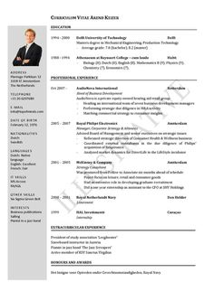 Resume Templates For Students In University