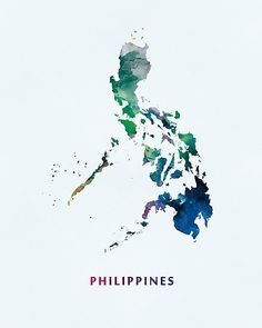 Philippines map art print home is where the heart is by trprints philippines philippines asia state map art photographic print gumiabroncs Images