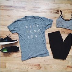New outdoorvoices tee to keep the motivation going.