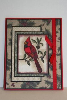 SC307 A Cardinal Christmas by sn0wflakes - Cards and Paper Crafts at Splitcoaststampers
