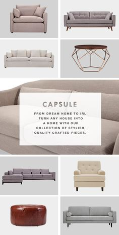 Want the latest on Capsule releases and 10% off your very first purchase? Say no more. Just head to www.capsulehome.com to sign up for our newsletter.