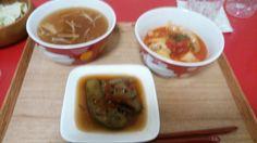 茄子のお浸し、トマト煮、お味噌汁