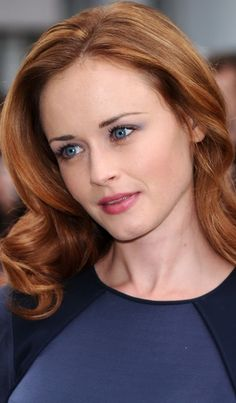Alexis Bledel ginger red haircolor ~~ 21 most famous celebrity redheads to inspire your next hairstyle