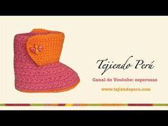 Botitas en crochet para bebe de 0 a 3 meses (Parte 2: bordes) - YouTube