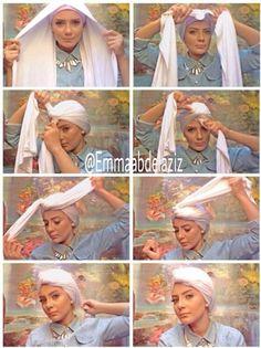 torban tutorial style, Tutorial hijab pesta simple for 2015 www. Turban Hijab, Mode Turban, Head Turban, Hijab Style, Turban Style, Tutorial Hijab Pesta, Turban Tutorial, Hair Wrap Scarf, Modele Hijab