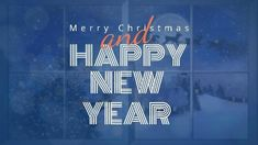A Happy New Year video template in blue and white easy to edit in Design Wizard