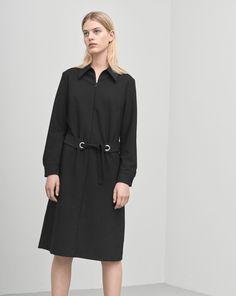 Shirt Zip Dress Black - Filippa K