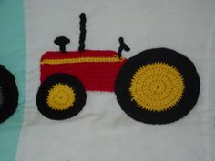 Tractor applique pattern