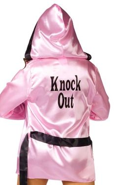 Knockout! Pink Boxer Robe & Boxing Gloves