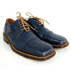 Blue Leather Oxfords...  I had to grab a brown paper bag and breath into it... (Almost)