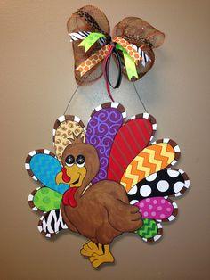Large Turkey Door Hanger by ObveeDesign on Etsy