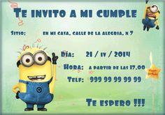 Invitación de cumpleaños Minion. - Fondos para Fotos y Foto Montajes en alta calidad.