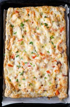 Festive Seafood Pizza – Serve this easy recipe as a holiday appetizer or as a main course paired with a green salad. Look for it in the 2018 from the Dairy Farmers of Canada pizza recipe Festive Seafood Pizza Appetizers For A Crowd, Seafood Appetizers, Holiday Appetizers, Holiday Recipes, Cereal Recipes, Pizza Recipes, Seafood Recipes, Cooking Recipes, Cleaning Recipes