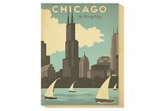 """Chicago, The Windy City 40"""" Print on OneKingsLane.com;  Anderson Design Group's """"Art and Soul of America"""" collection brings the spirit of the world's great cities to life on canvas"""