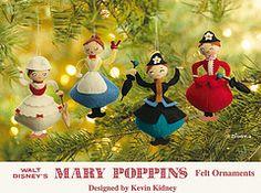 Mary Poppins Felt Ornaments